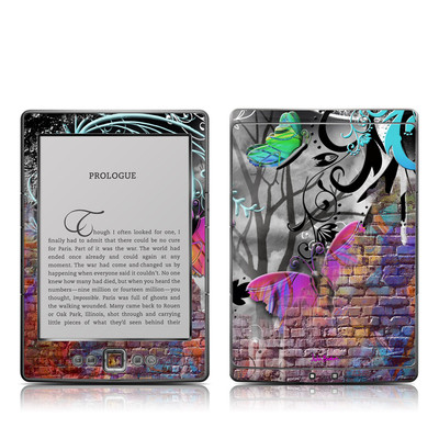 Kindle 4 Skin - Butterfly Wall