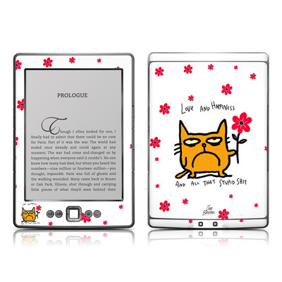 Kindle 4 Skin - Catwad Happy
