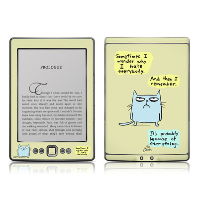 Kindle 4 Skin - Catwad Hate