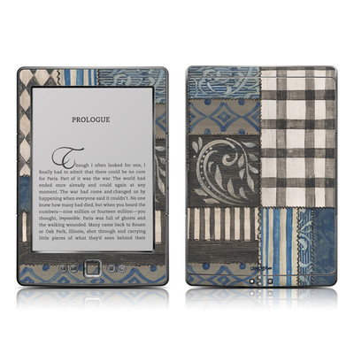 Kindle 4 Skin - Country Chic Blue