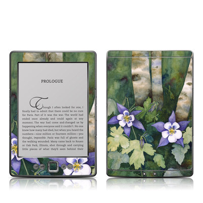 Kindle 4 Skin - Colorado Columbines