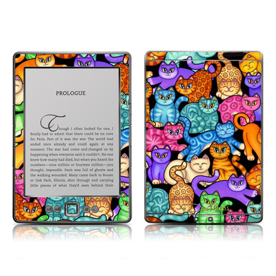 Kindle 4 Skin - Colorful Kittens