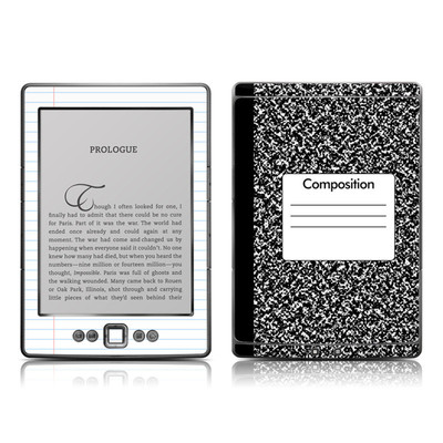 Kindle 4 Skin - Composition Notebook