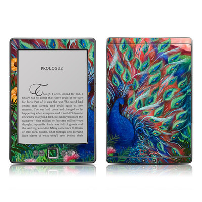 Kindle 4 Skin - Coral Peacock
