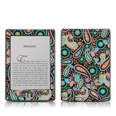 Kindle 4 Skin - Crazy Daisy Paisley