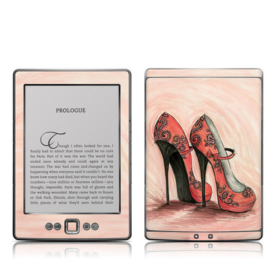 Kindle 4 Skin - Coral Shoes