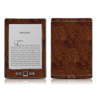 Kindle 4 Skin - Dark Burlwood