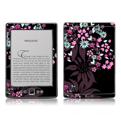 Kindle 4 Skin - Dark Flowers