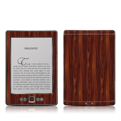 Kindle 4 Skin - Dark Rosewood