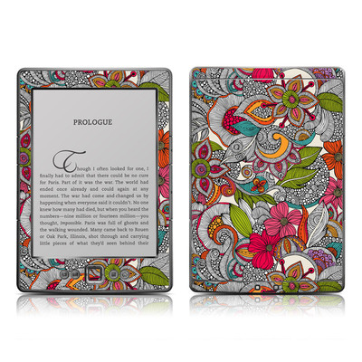 Kindle 4 Skin - Doodles Color
