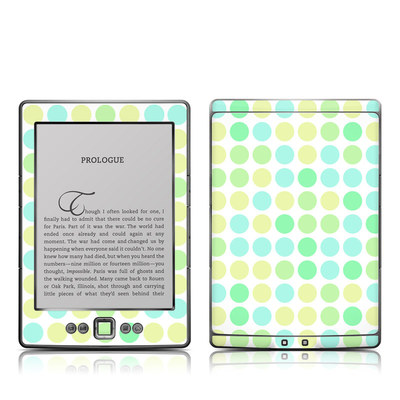 Kindle 4 Skin - Big Dots Mint