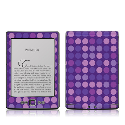 Kindle 4 Skin - Big Dots Purple
