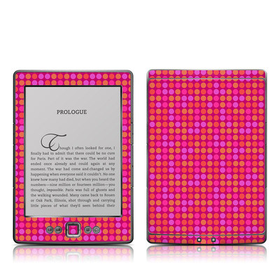 Kindle 4 Skin - Dots Pink