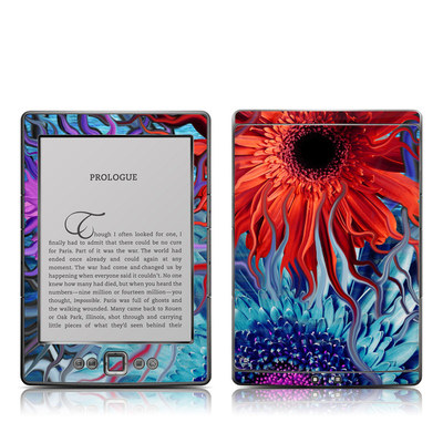 Kindle 4 Skin - Deep Water Daisy Dance