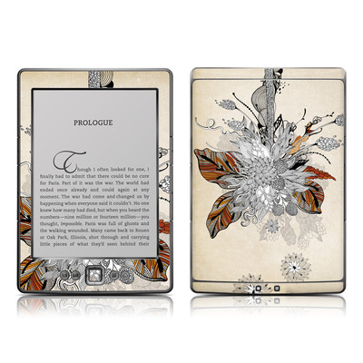 Kindle 4 Skin - Fall Floral