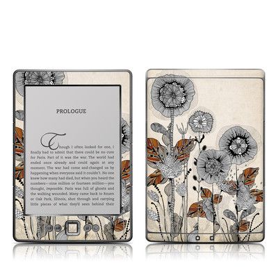 Kindle 4 Skin - Four Flowers