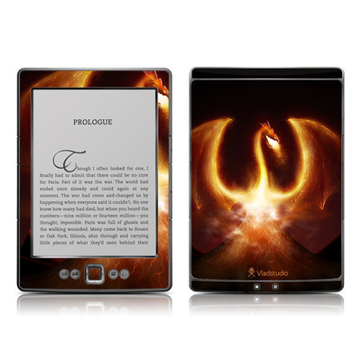 Kindle 4 Skin - Fire Dragon