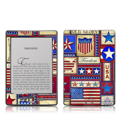 Kindle 4 Skin - Flag Patchwork