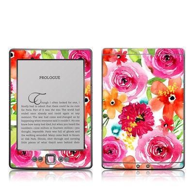 Kindle 4 Skin - Floral Pop