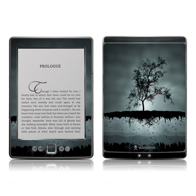 Kindle 4 Skin - Flying Tree Black