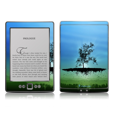 Kindle 4 Skin - Flying Tree Blue