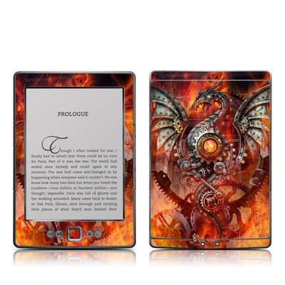 Kindle 4 Skin - Furnace Dragon