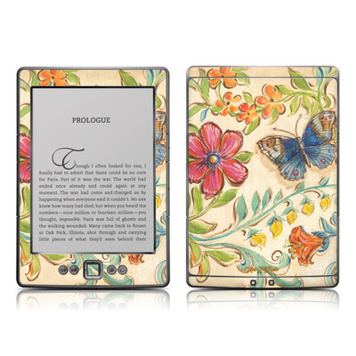 Kindle 4 Skin - Garden Scroll