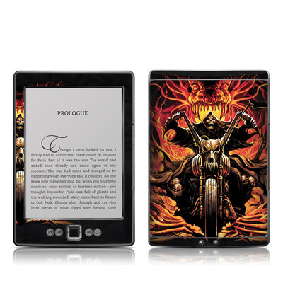 Kindle 4 Skin - Grim Rider