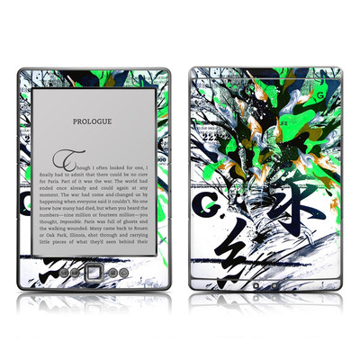 Kindle 4 Skin - Green 1