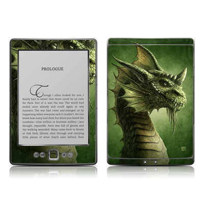 Kindle 4 Skin - Green Dragon