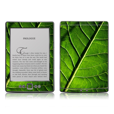 Kindle 4 Skin - Green Leaf