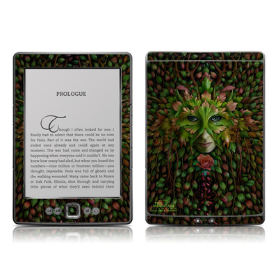 Kindle 4 Skin - Green Woman