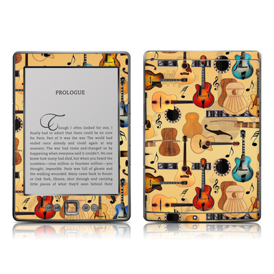 Kindle 4 Skin - Guitar Collage