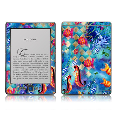 Kindle 4 Skin - Harlequin Seascape