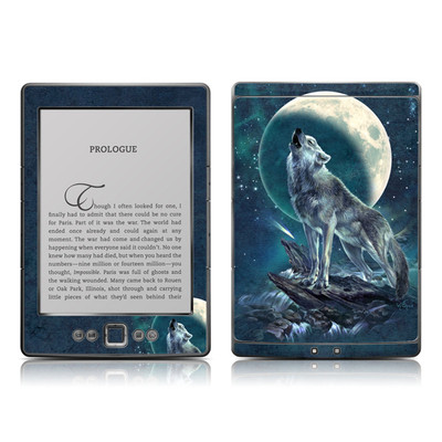 Kindle 4 Skin - Howling Moon Soloist