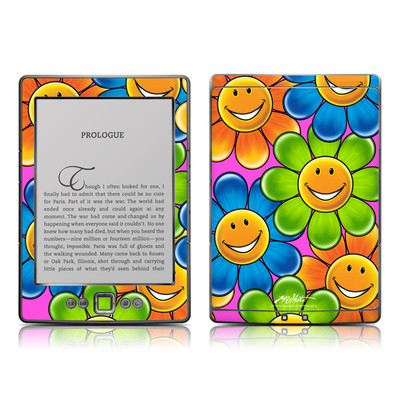 Kindle 4 Skin - Happy Daisies