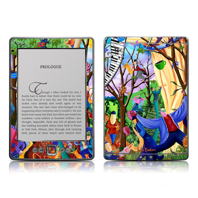 Kindle 4 Skin - Happy Town Celebration