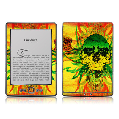 Kindle 4 Skin - Hot Tribal Skull