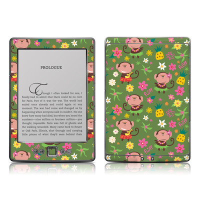Kindle 4 Skin - Hula Monkeys