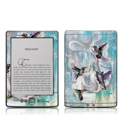 Kindle 4 Skin - Hummingbirds