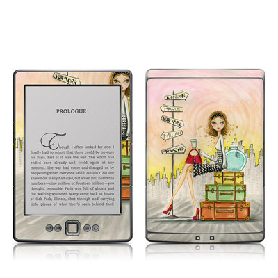 Kindle 4 Skin - The Jet Setter