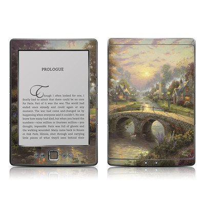 Kindle 4 Skin - Sunset On Lamplight Lane