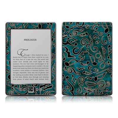 Kindle 4 Skin - Music Notes