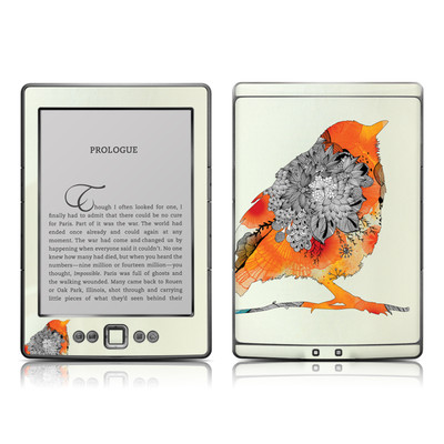 Kindle 4 Skin - Orange Bird