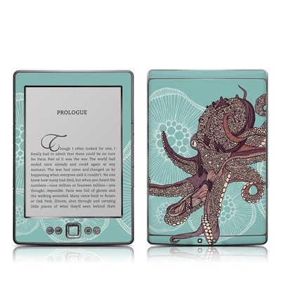 Kindle 4 Skin - Octopus Bloom