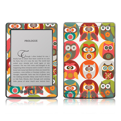 Kindle 4 Skin - Owls Family