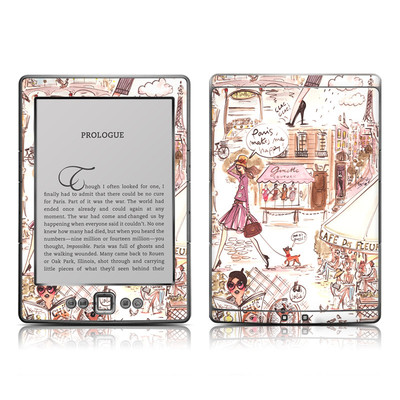 Kindle 4 Skin - Paris Makes Me Happy