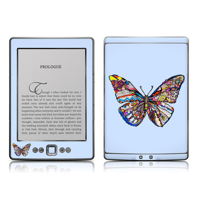 Kindle 4 Skin - Pieced Butterfly