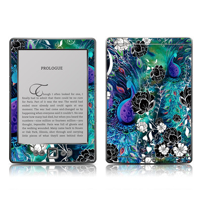 Kindle 4 Skin - Peacock Garden