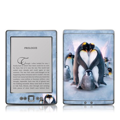 Kindle 4 Skin - Penguin Heart